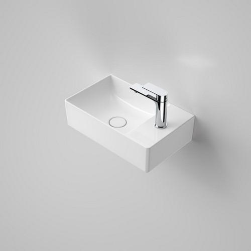 Urbane II Hand Wall Basin 460mm x 280mm x 172mm 1 Tap Hole No Overflow White [195991]