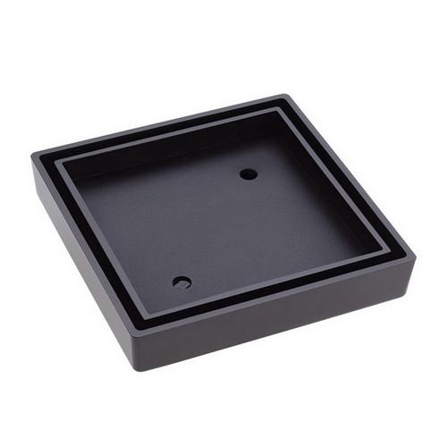 Tile Insert Floor Waste Square Outlet 90mm Matte Black [168834]