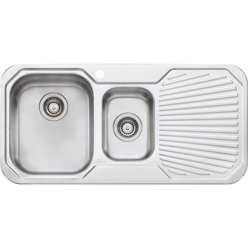 Petite 1 & 1/2 Bowl Sink With Drainer-1TH [067849]