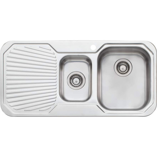 Petite 1 & 1/2 Bowl Sink With Drainer-1TH [067850]