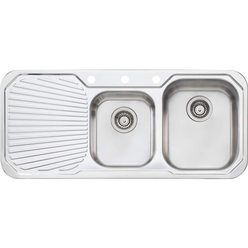 Petite 1 & 3/4 Bowl Sink With Drainer-1TH [067855]