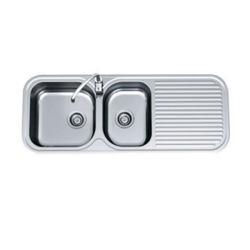 Advance 1 & 3/4 Right Hand Bowl Sink 1230 x 480mm 1 Tap Hole [067862]