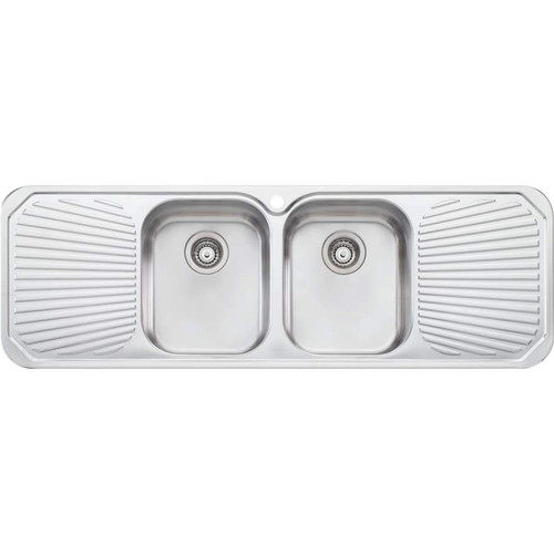 Petite Double Bowl Sink With Double Drainer-1TH [068134]