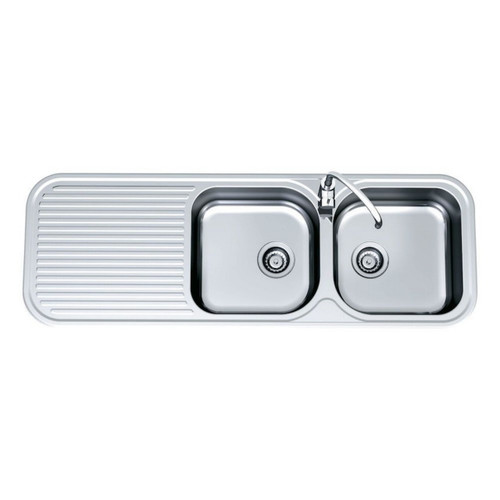 Advance Double Right Hand Bowl Sink 1380 x 480mm 1 Tap Hole [069413]