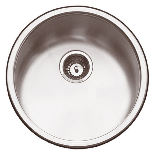 Yarra 6 Single Round Bowl Sink 450 x 450mm No Tap Hole Satin [069010]