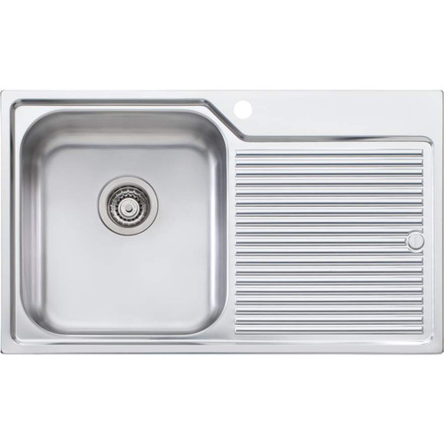Nu-Petite Single Bowl Topmount Sink With Drainer-1TH [048329]