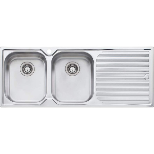 Diaz Double Bowl Topmount Sink With Drainer-1TH [112996]