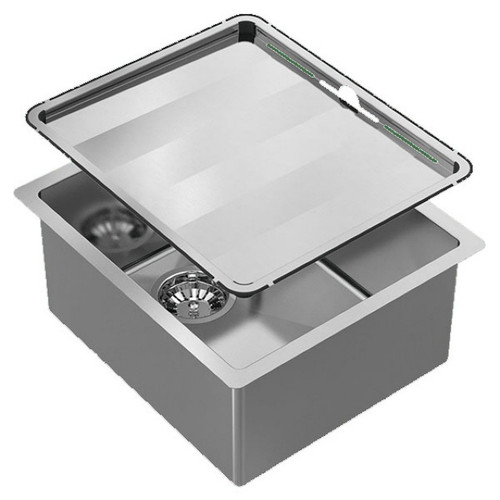 Piazza Single Square Bowl Sink 390 x 450mm No Tap Hole No Drainer [118582]