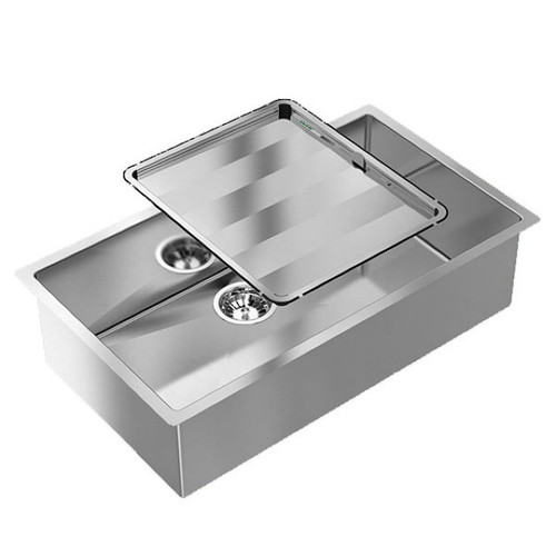 Piazza Single Square Bowl Sink 770 x 450mm No Tap Hole No Drainer [118584]