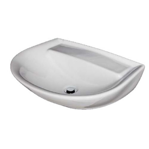 Cera Wall Basin 600mm x 445mm x 190mm No Tap Hole No Overflow White [122988]