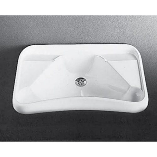 Hospital Wall Basin 670mm x 430mm x 180mm No Tap Hole No Overflow White [122992]