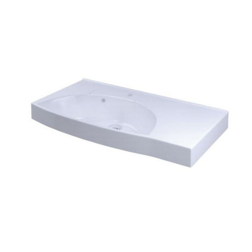 Sign Wall Basin 770mm x 420mm x 160mm Left Bowl 1 Tap Hole No Overflow White [122968]