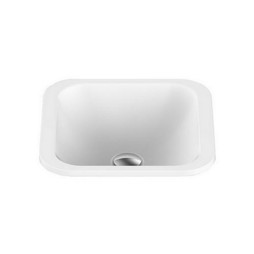 Honour Inset Vanity Basin 365mm x 365mm x 125mm Matte White [127535]
