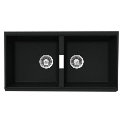 Schock Double Bowl Undermount Sink 860 x 442mm No Tap Hole Black [133477]