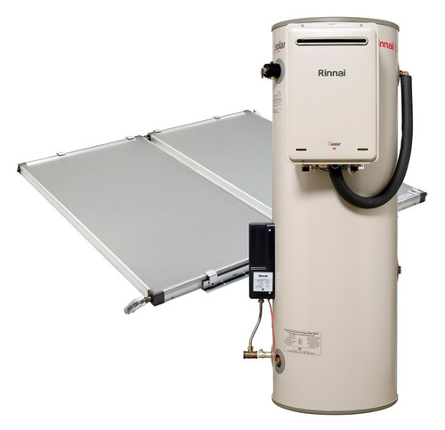 Sunmaster 270L ground mounted storage tank, S26 gas booster LPG and 2 roof mounted collectors [137778]