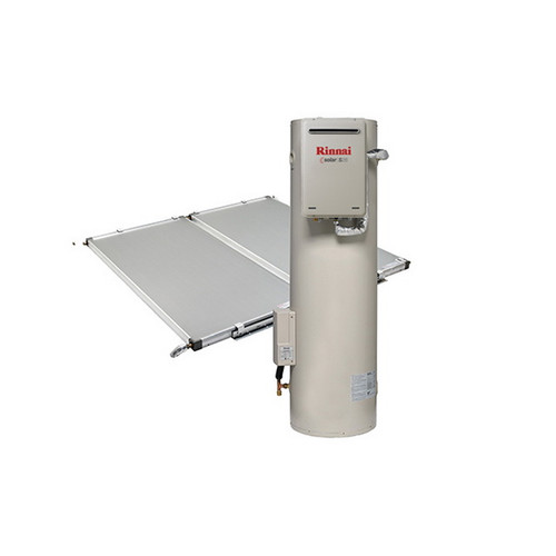 Sunmaster 270L ground mounted storage tank, S26 gas booster Natural Gas and 2 roof mounted collectors [137779]