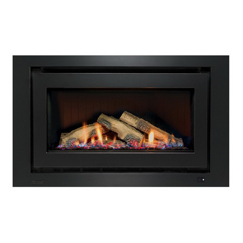 950 Inbuilt Gas Log Fireplace 8.1kW LPG Black on Black [139736]