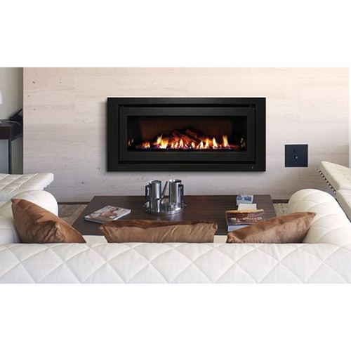 1250 Inbuilt Gas Log Fireplace 8.4kW Natural Gas Black on Black [139725]
