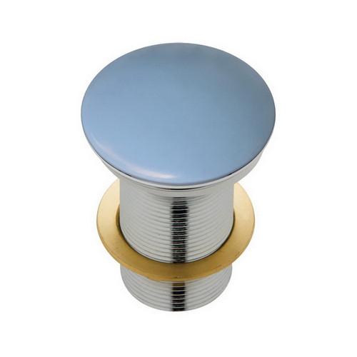 Basin Pop-Up Plug & Waste Domed No Overflow 32mm Matte Blue [169175]