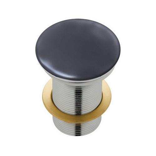 Basin Pop-Up Plug & Waste Domed No Overflow 32mm Matte Dark Grey [169177]