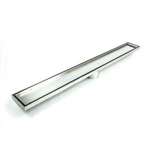 Shower Tile Insert Floor Grate 52.1mm x 100mm x 700mm Centre Outlet 74mm Stainless Steel [169298]