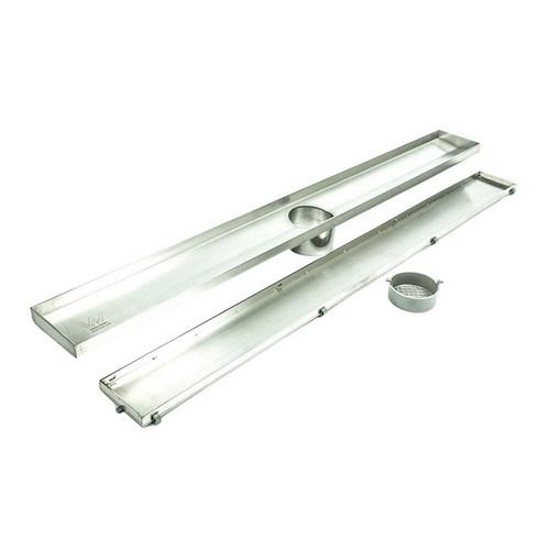 Shower Tile Insert Floor Grate 52.1mm x 100mm x 1000mm Centre Outlet 74mm Stainless Steel [169301]