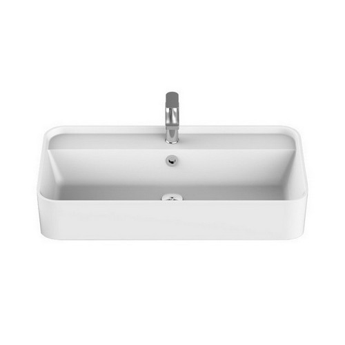 Miya Semi-Recessed Basin 750mm x 390mm x 150mm Matte White [169945]