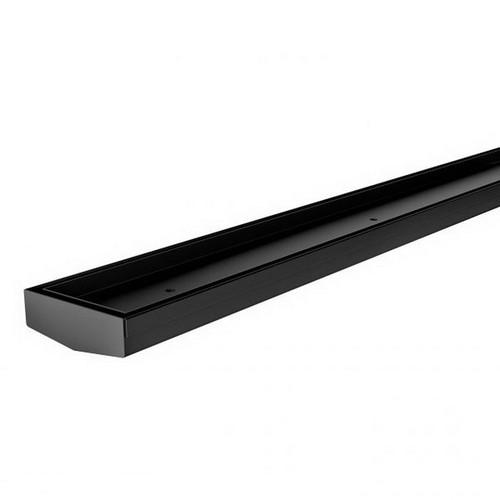 Tile Insert V Channel Drain 30mm x 75mm x 600mm Outlet 45mm Matte Black [180772]