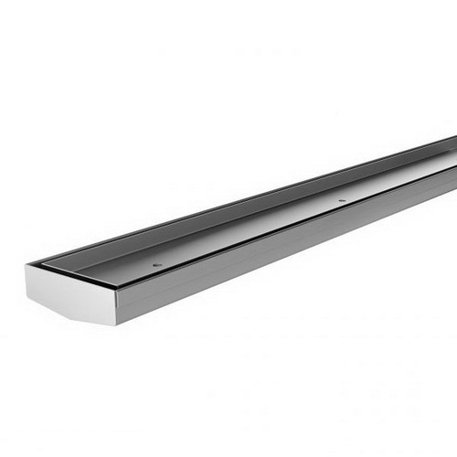Tile Insert V Channel Drain 30mm x 75mm x 600mm Outlet 45mm Stainless Steel [180773]