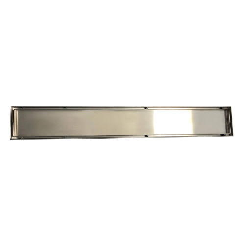 Shower Tile Insert Floor Grate 52.1mm x 100mm x 1200mm Centre Outlet 38mm Stainless Steel [181005]