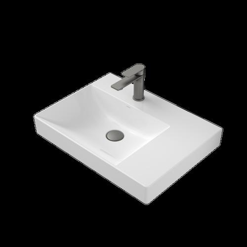 Urbane II Right Hand Shelf Wall Basin 600mm x 440mm x 187mm 1 Tap Hole No Overflow White [195987]