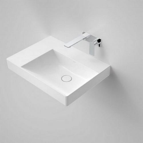 Urbane II Left Hand Shelf Wall Basin 600mm x 440mm x 187mm No Tap Hole No Overflow White [195988]