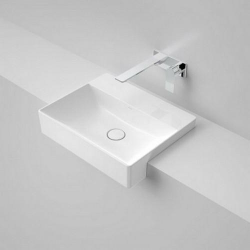Urbane II Semi-Recessed Basin 500mm x 400mm x 172mm No Tap Hole White [195990]