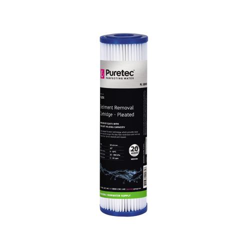 "Pleated Sediment Water Filter Cartridge, 10"", 20 Micron [201325]"