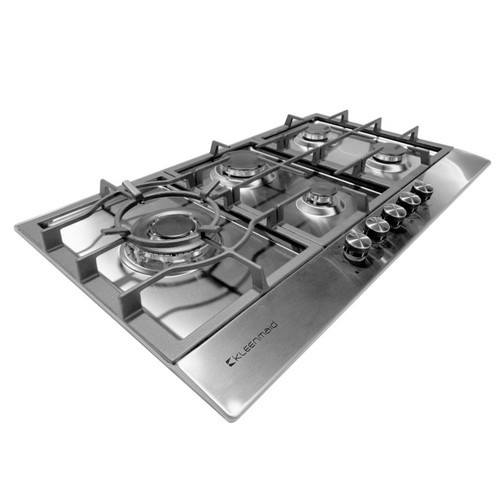 90cm Gas Cooktop with Wok Stainless Steel [253959]