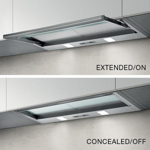 90cm Concealed Slideout Rangehood Stainless Steel [253986]