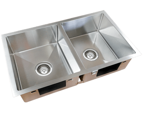 Excellence Squareline Double Bowl & Draining Tray [254010]