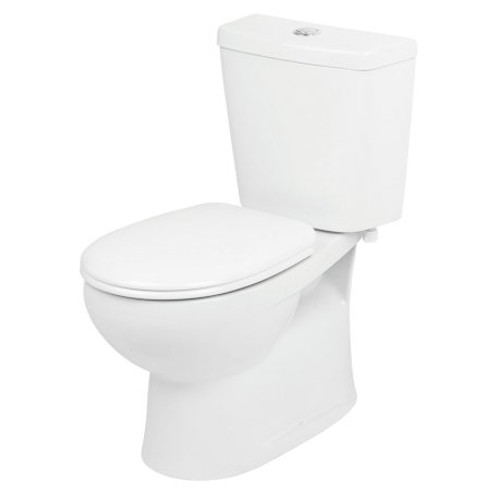 Venecia Close Coupled Toilet Suite - Bottom Inlet, S Trap, Standard Seat [105214]