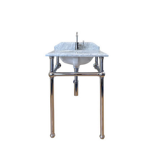 Mayer 600 Basin Stand Chrome + Marble Top 3 Tap Hole [251142]