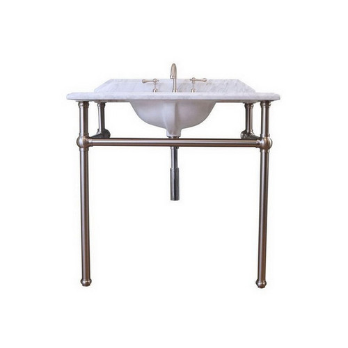 Mayer 900 Basin Stand Brushed Nickel + Marble Top 3 Tap Hole [251191]