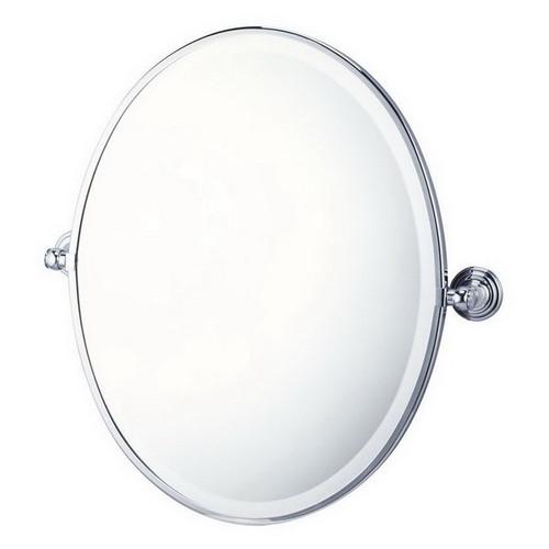 Mayer Pivot Oval Mirror Brushed Nickel [251218]
