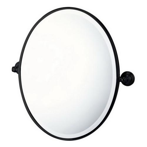 Mayer Pivot Oval Mirror Matte Black [251219]