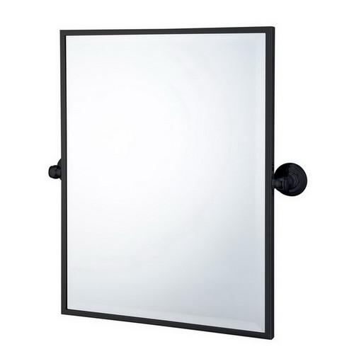 Mayer Pivot Rectangle Mirror Matte Black [251221]