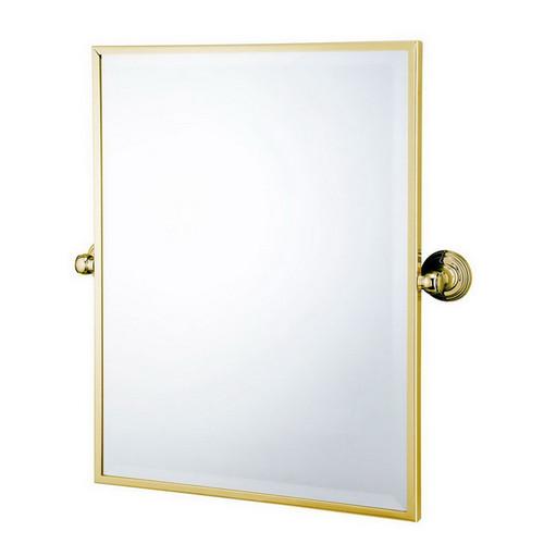 Mayer Pivot Rectangle Mirror Brushed Brass [251222]