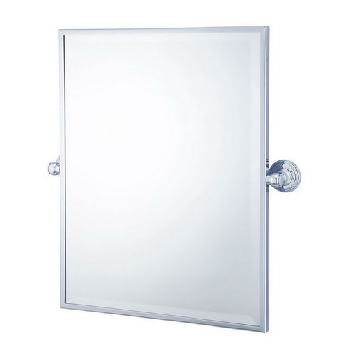 Mayer Pivot Rectangle Mirror Brushed Nickel [251223]