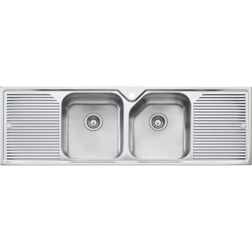 Nu-Petite Double Bowl Topmount Sink With Double Drainer-1TH [106672]