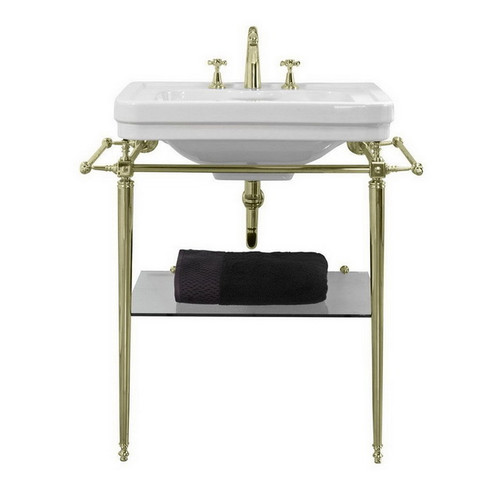 Stafford 620 Basin Stand Polished Gold 1 Tap Hole [251250]