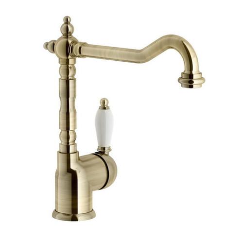 Clasico Single Sink Mixer Antique Brass/Italian Bronze [251071]