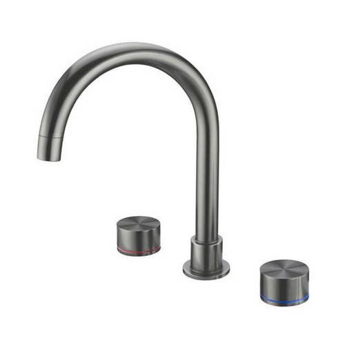 Kara Sink Tap Set Gun Metal Grey [254064]