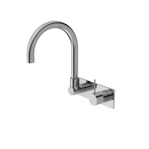 Mecca Handle Up Wall Basin Mixer Chrome [254072]
